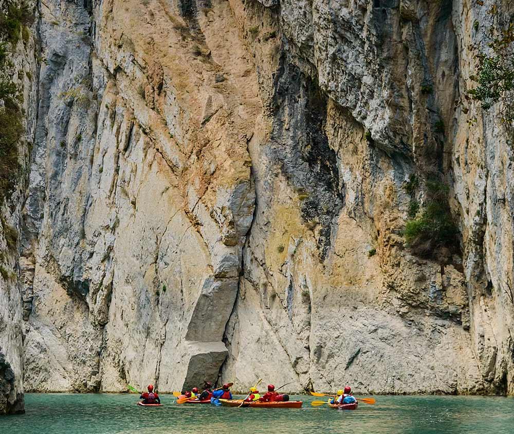 kayak en montrebei aragon
