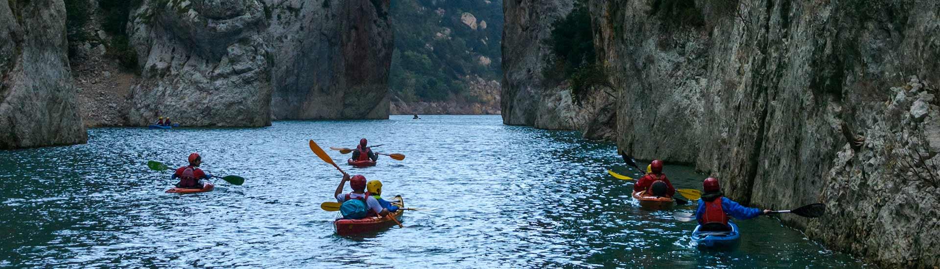 kayak con niños