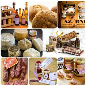 mosaico productos artesanos locales gourmet