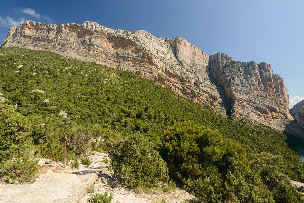 vias ferratas roca caliza montsec